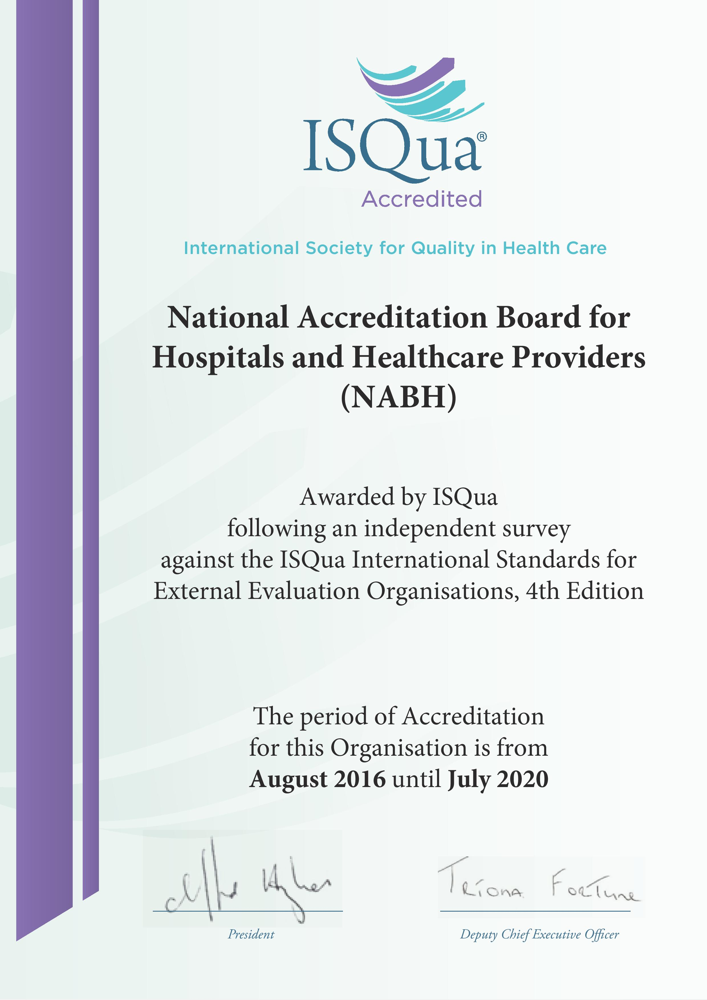 National accreditation board for hospitals healthcare providers isqua has accredited standards for hospitals developed by national accreditation board for hospitals healthcare providers nabh india xflitez Gallery